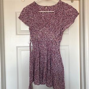 Free people floral tunic.